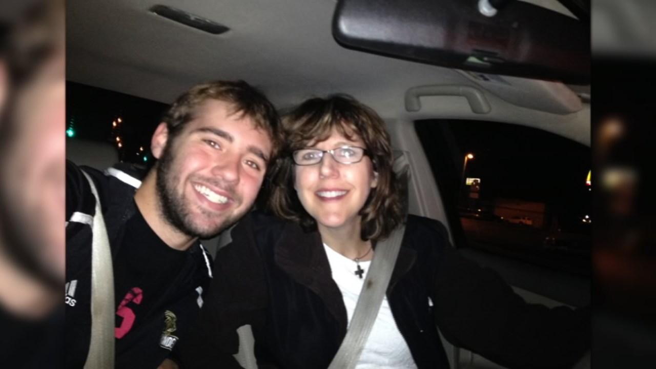 Joe Newland and his mom.