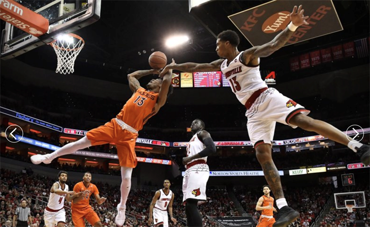 Ray Spalding (13) and Deng Adel (center) are trying to earn spots in the NBA Draft.