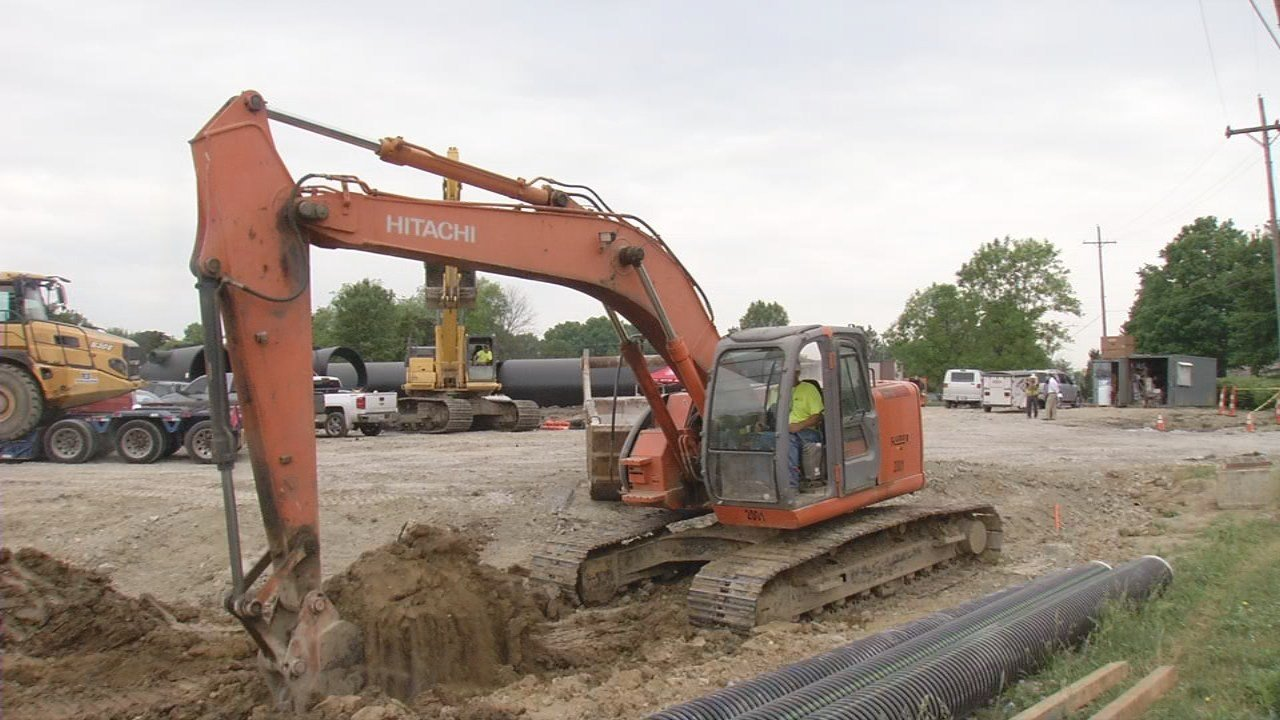 New Albany leaders hope the project is complete by this fall.