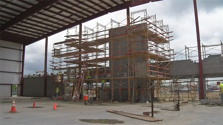 Construction is underway on a new theater at the Ark Encounter Park in northern Kentucky.