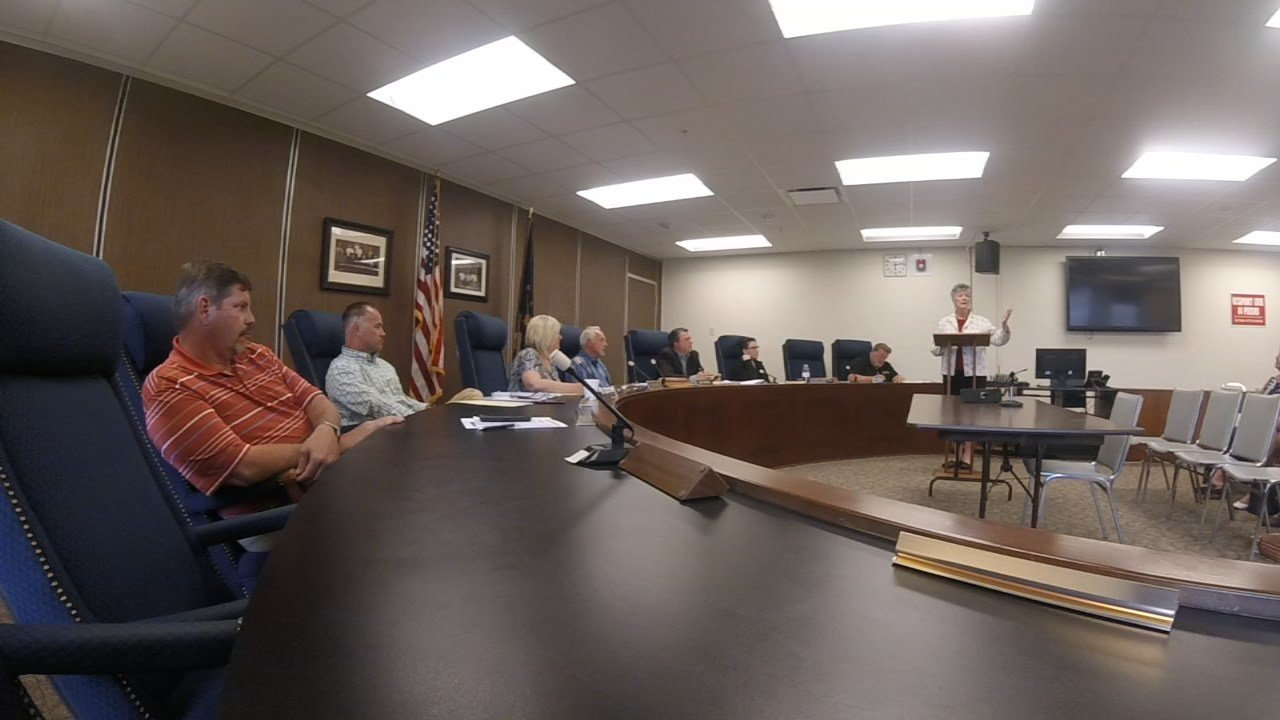Several Clark County workers showed up at the commissioners meeting Thursday night to voice their concerns.