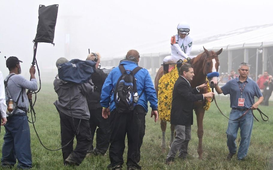 Kentucky Derby 144 winner Justify earns the second jewel in the Triple Crown at the 143rd Preakness Stakes. (Eric Crawford, WDRB)