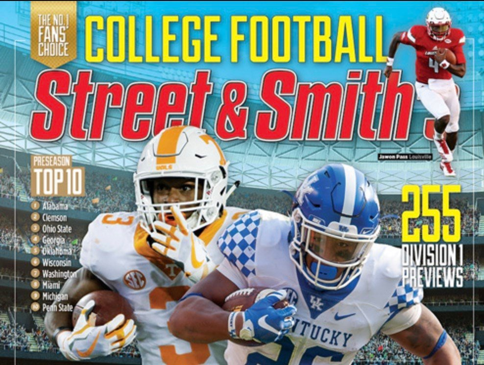 The outlook is not encouraging for U of L, UK, IU or WKU football in the Street & Smith College Football Yearbook.