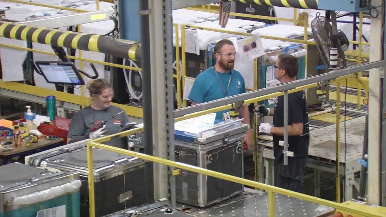 GE Appliances workers make dishwashers in Building 3 at Appliance Park.