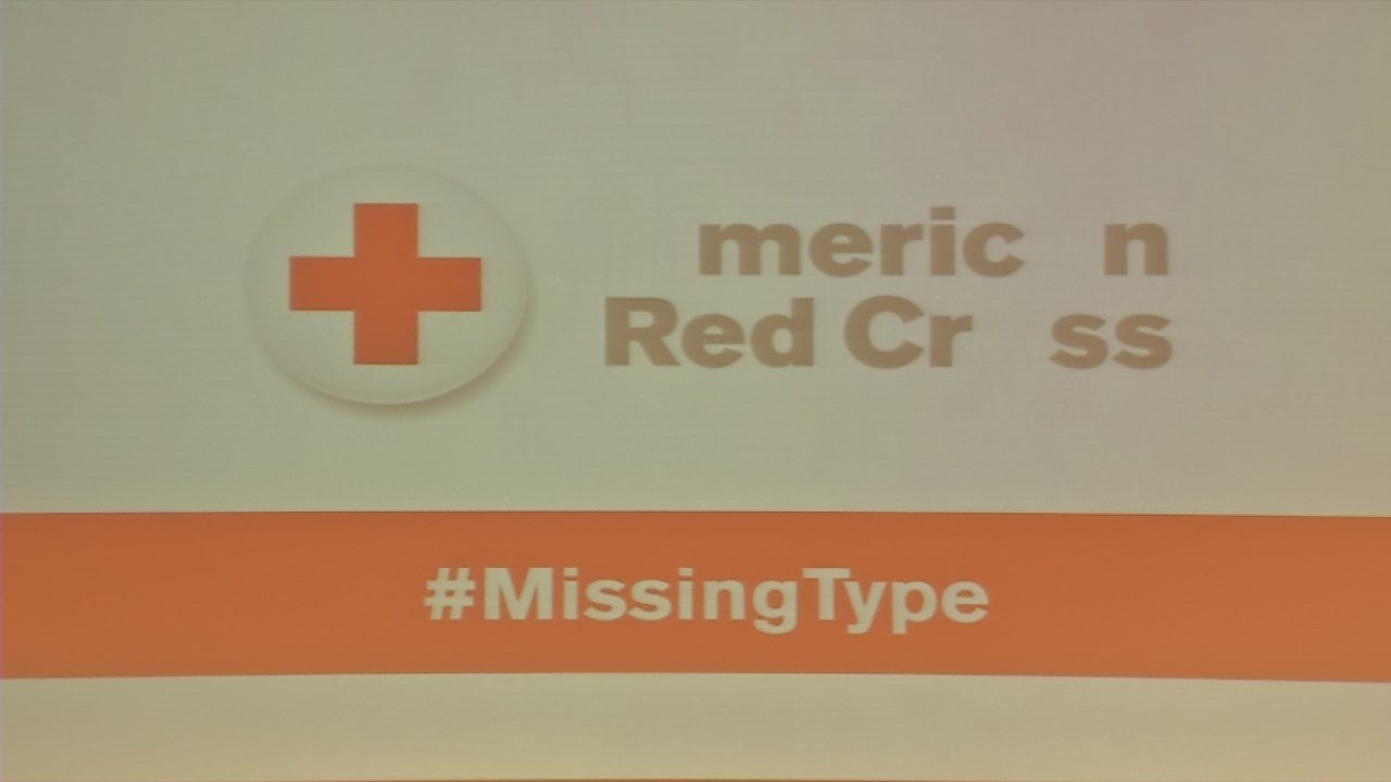 American Red Cross launches 'Missing Types' campaign