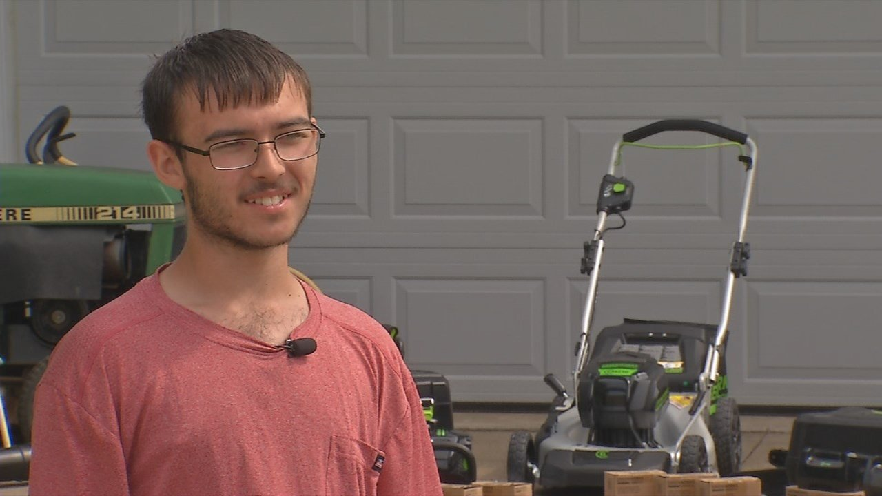 Thieves stole thousands of dollars in lawn equipment from Michael Bonza.