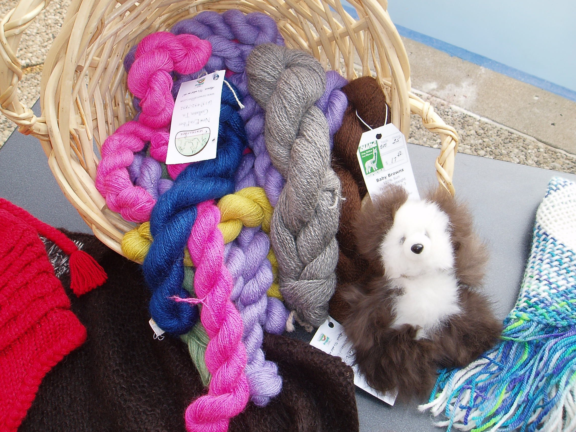 Alpaca fleece products