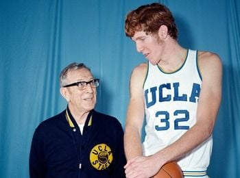 What other players belong with Bill Walton on the list of the 75 greatest players in NCAA Tournament history?