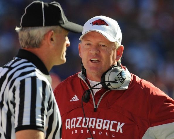 A Louisville football jersey was included in the donation Bobby Petrino made to the Goodwill store in Springdale, Ark.
