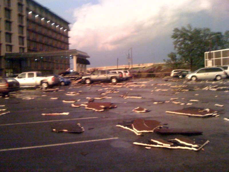 Crowne Plaza damage, by Tamara Evans