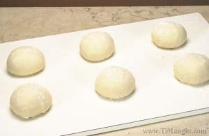 Roll out small portions of dough