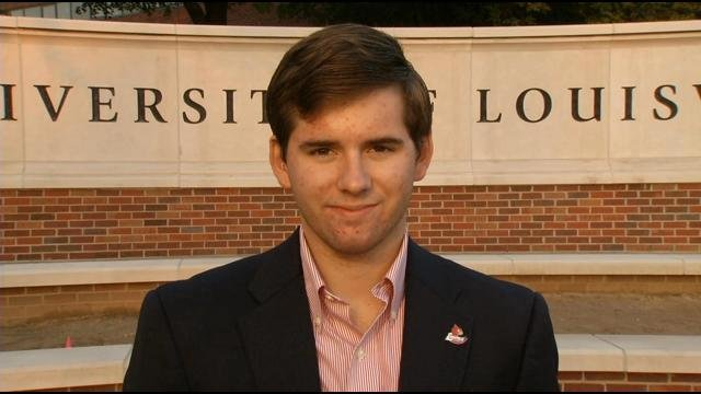 U of L Student Government Association President Justin Brandt