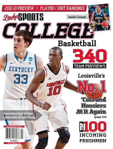 Louisville starts the season ranked first in the Lindy's college hoops yearbook.