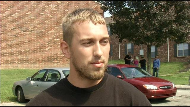 Eric Durbin pulled three people from the burning apartments, but says just did what anyone else would do.""