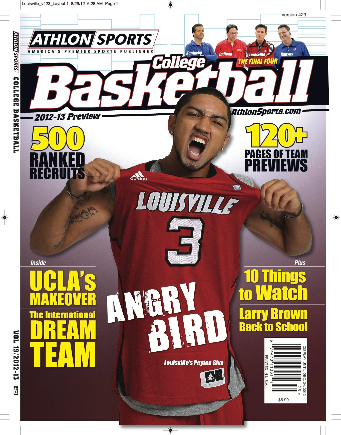 Louisville senior Peyton Siva is featured on the cover of the local edition of Athlon's Sports College Basketball Yearbook.
