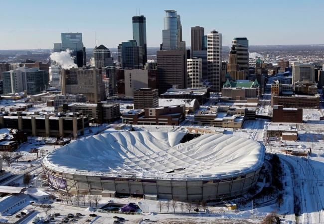 The Metrodome in downtown Minneapolis tops Dr. Bo's list as the least appealing college football stadium.