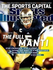 Notre Dame linebacker Manti Te'o is my first choice for the Lombardi Award.