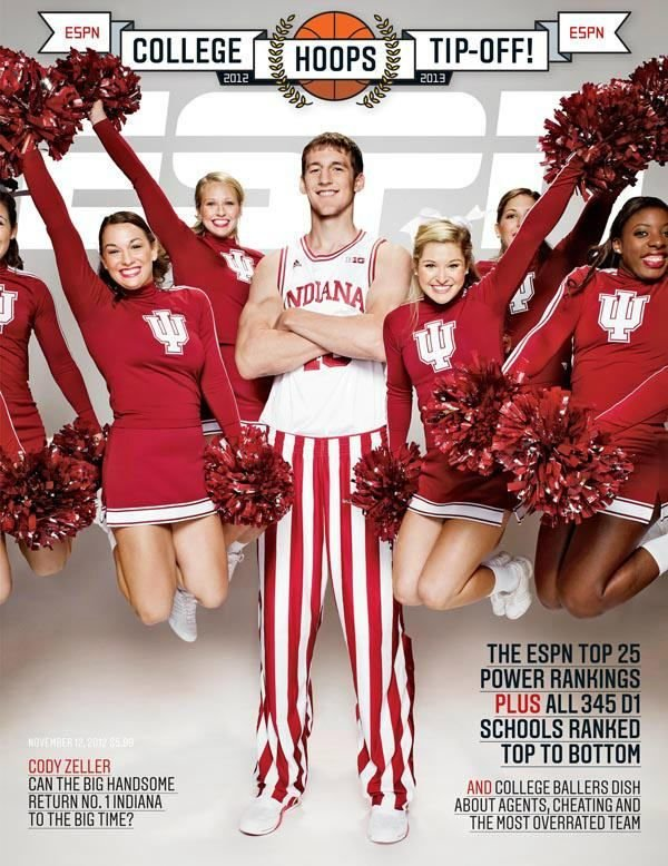 Cody Zeller is featured on the cover of ESPN The Magazine.