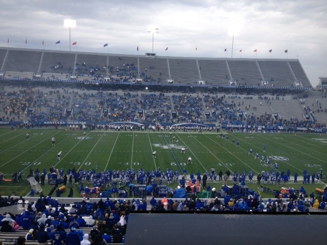 There appear to be fewer than 20,000 here for the start of the Vanderbilt-Kentucky game.