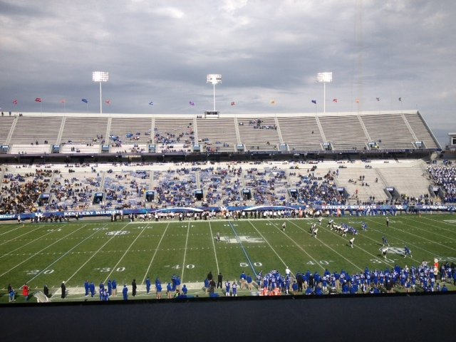 This was the crowd at Commonwealth Stadium during the fourth quarter of UK's 40-0 loss to Vanderbilt.