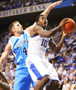 Archie Goodwin led Kentucky past Morehead State with a career-best 28 points.
