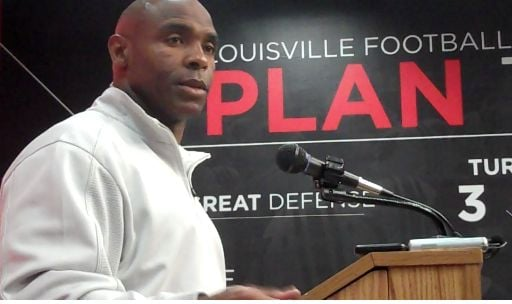 Charlie Strong and the Louisville football team are three-point underdogs against Rutgers Thursday.