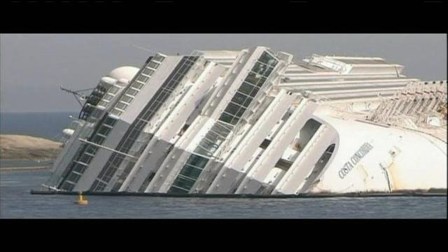 One year later, crews are still working to recover the Costa Concordia.