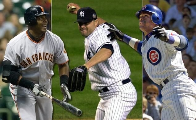 Barry Bonds, Roger Clemens and Sammy Sosa were not voted into the Baseball Hall of Fame Wednesday.