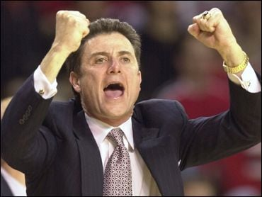 Rick Pitino's Louisville team can move to Number One if Ohio State beats Michigan Sunday.