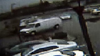 This image of the suspect's van was taken from surveillance footage from a Cracker Barrel restaurant in Bardstown.