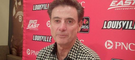 Louisville basketball coach Rick Pitino credits improved officiating and TV with the shrinking homecourt edge in college basketball.