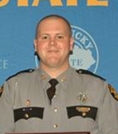 Tpr. Anson Tribby from 2012 Ky. State Police photo.