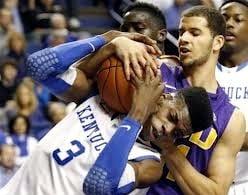Nerlens Noel had 10 points, 8 rebounds and 6 blocks in Kentucky's 75-70 win over LSU Saturday in Rupp Arena.