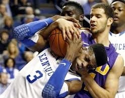 Nerlens Noel had 10 points, 8 rebounds and 6 blocks in Kentucky's 75-70 win over LSU Saturday in Rupp Arena.