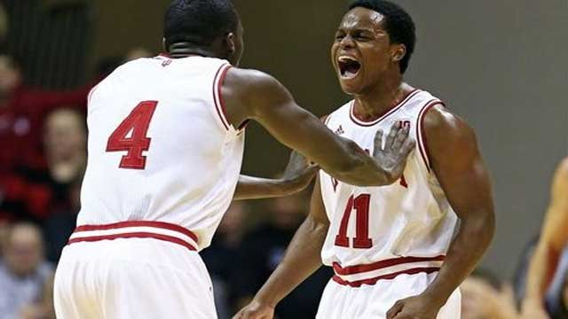 Victor Oladipo (left) and Yogi Ferrell led Indiana past Michigan State, 75-70, Sunday.