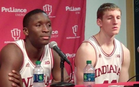 Indiana's Victor Oladipo (left) and Cody Zeller both rank in the top five in ESPN.com's national player of the year voting.