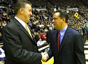Indiana basketball coach Tom Crean (right) has flipped the script on Matt Painter at Purdue.