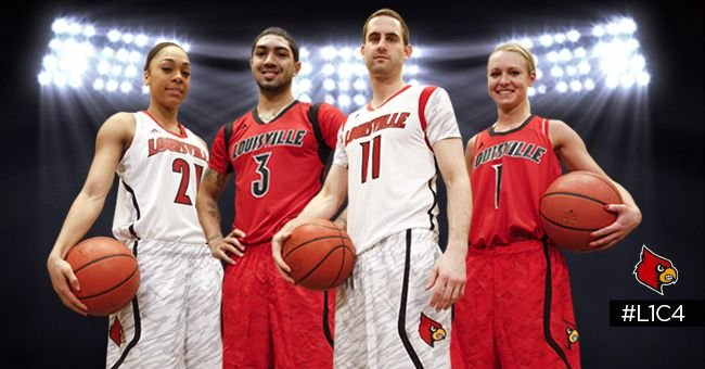 The University of Louisville basketball teams will wear new uniforms during post-season play.