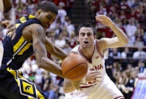 Will Sheehey helped with the defensive charge that enabled Indiana to limit Iowa to 14 points in the first half Saturday.