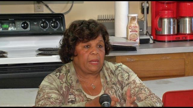 Barbara Shanklin, (D), Lou. Metro Council Dist. 2, speaks at a news conference in 2012.