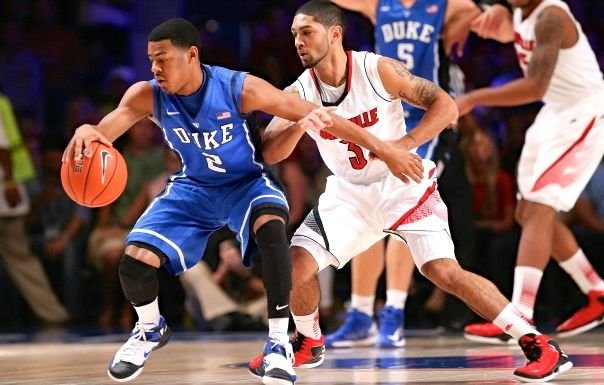 When Duke and Louisville play in the Midwest Regional final Sunday, the stakes will be higher than they were in November.