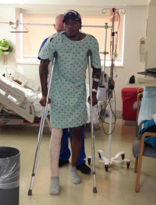 Kevin Ware stands less than 24 hours after one of the worst injuries in college basketball