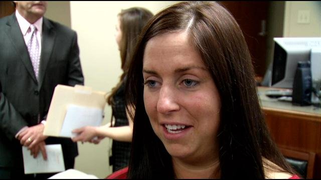 Susan Jones, 26, New Albany, naval reservist and first graduate of Floyd Co. Veterans' Court