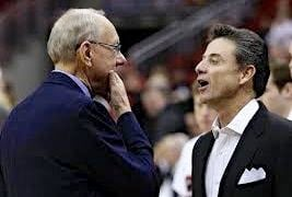 Syracuse coach Jim Boeheim (left) said Rick Pitino should be voted into the Naismith Hall of Fame Monday.