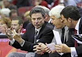 Ralph Willard (center) said he does not believe Rick Pitino will retire if Louisville wins the NCAA title Monday night.