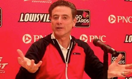 Rick Pitino will be inducted into the Naismith Basketball Hall of Fame Sept. 6.