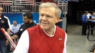 Denny Crum welcomes Rick Pitino into the club of Hall of Fame coaches with two NCAA titles.