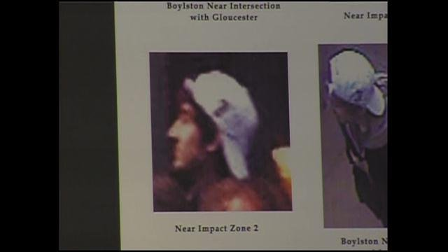 "Photo of ""Suspect 2"" -- a person wanted for questioning in connection with Boston Marathon bombings, according to F.B.I."