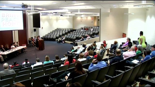 Dozens of people were in attendance for the LMPD forum discussing dating violence and sexual assaults