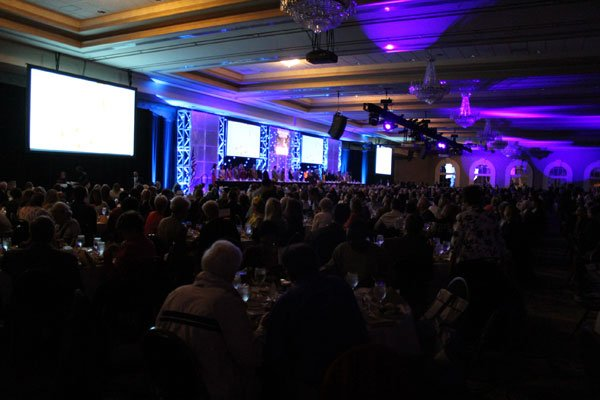 """The 2013 Kentucky Derby Festival's """"They're Off!"""" Luncheon was held in the Grand Ballroom of Louisville's Galt House hotel."""